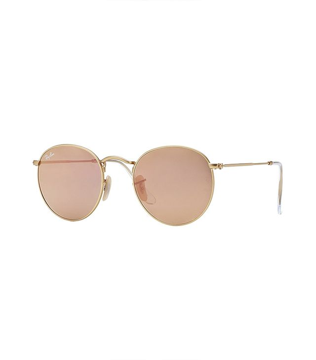 Ray-Ban Round Metal-Frame Sunglasses