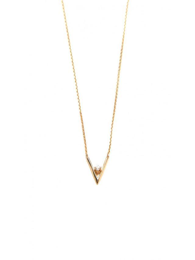 WWake Diamond Triangle Necklace