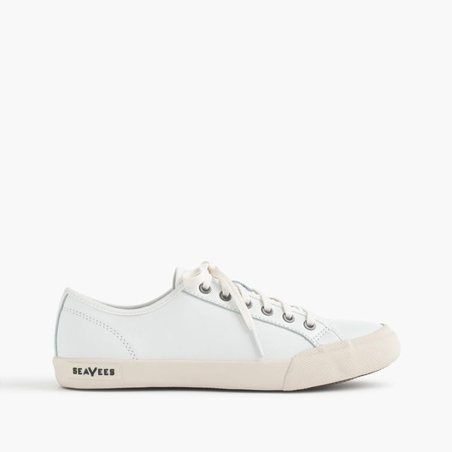 SeaVees for J.Crew White Leather Monterey Sneakers