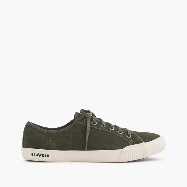 SeaVees for J.Crew Olive Suede Monterey Sneakers
