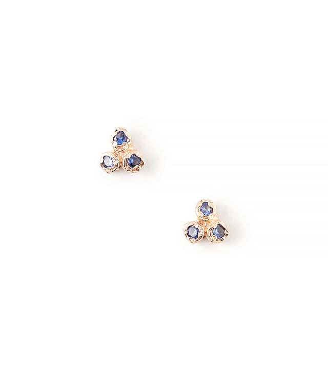Jerry Grant,Shashi 6 Sapphire Cluster Earrings