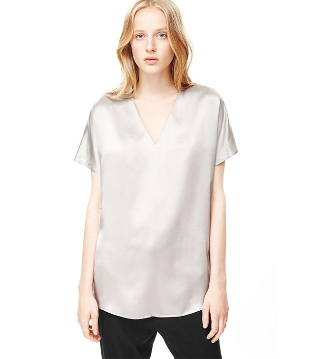 COS V-Neck Silk Top
