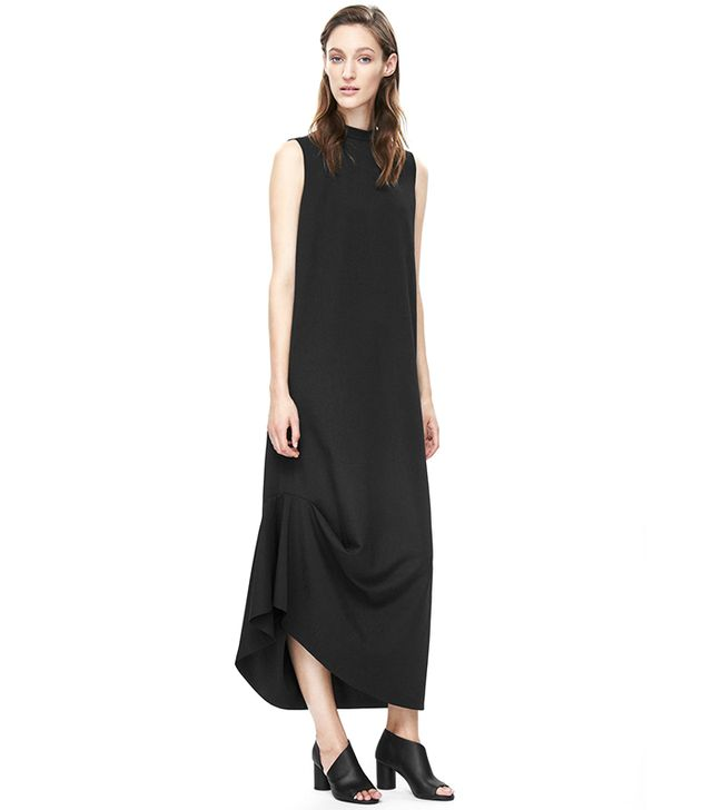 COS High-Neck Draped Dress