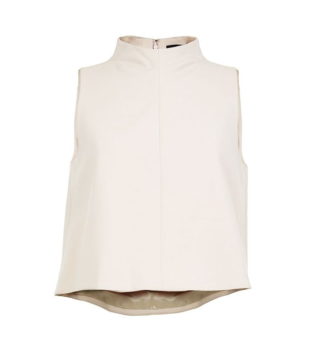 Tibi Agathe Funnel Neck Top