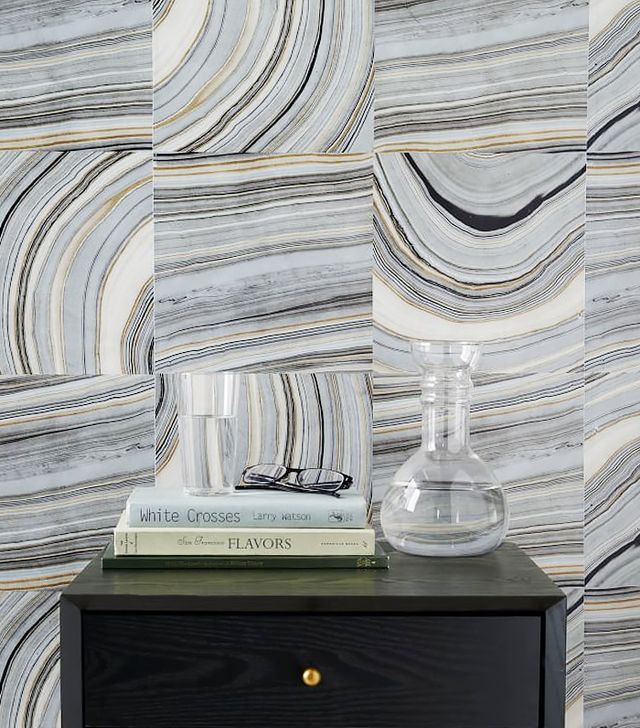 West Elm Strata Marble Tile Wallpaper