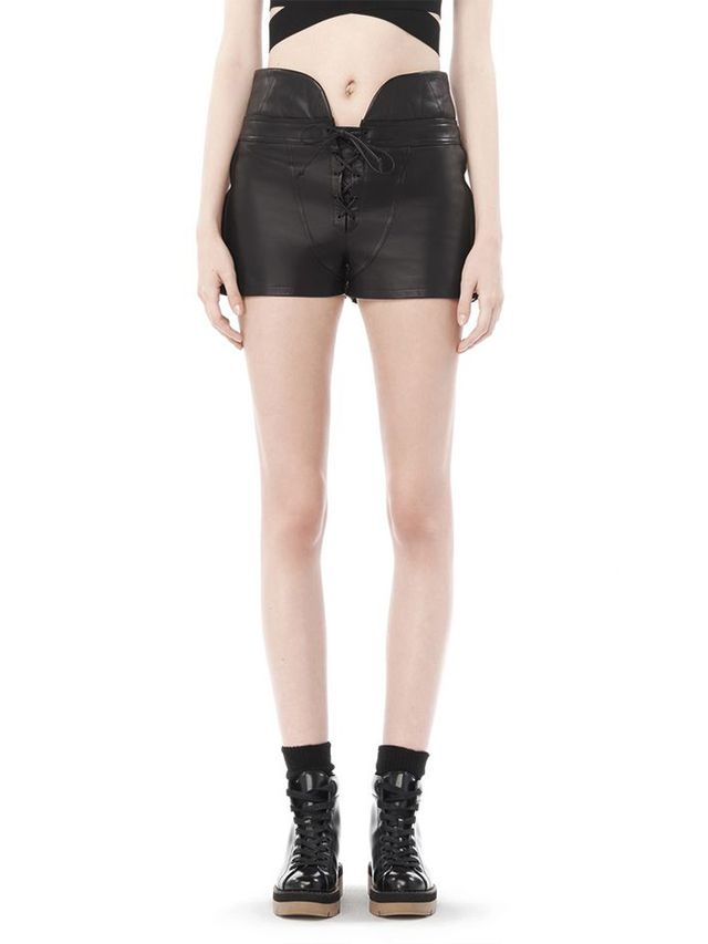 Alexander Wang Spring 10 Lace-Up Leather Shorts