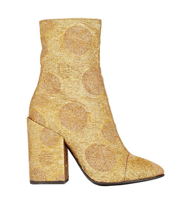 Dries van Noten Jacquard Cap-Toe Booties