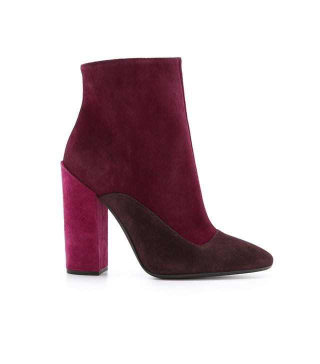 Giambattista Valli Suede Tricolor Booties