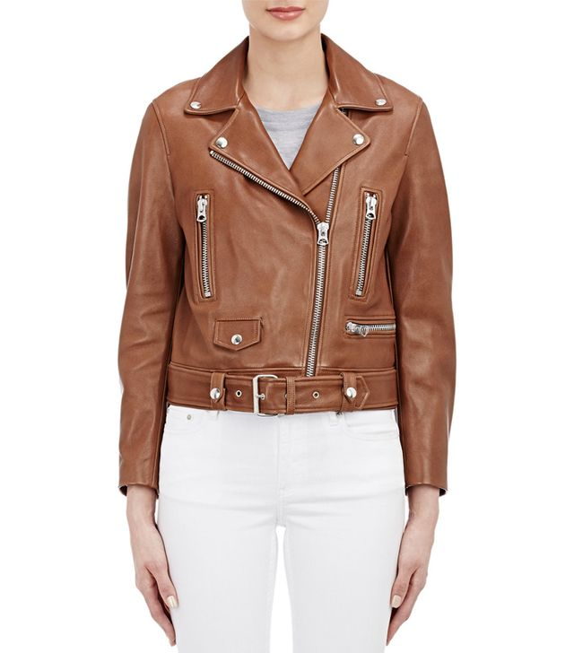 "Acne Studios Leather ""Mock"" Moto Jacket"
