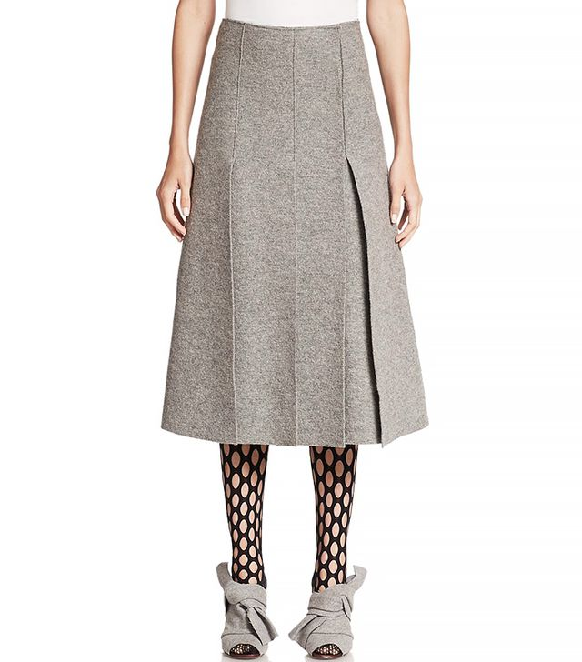 Proenza Schouler Boiled Wool Slit Skirt