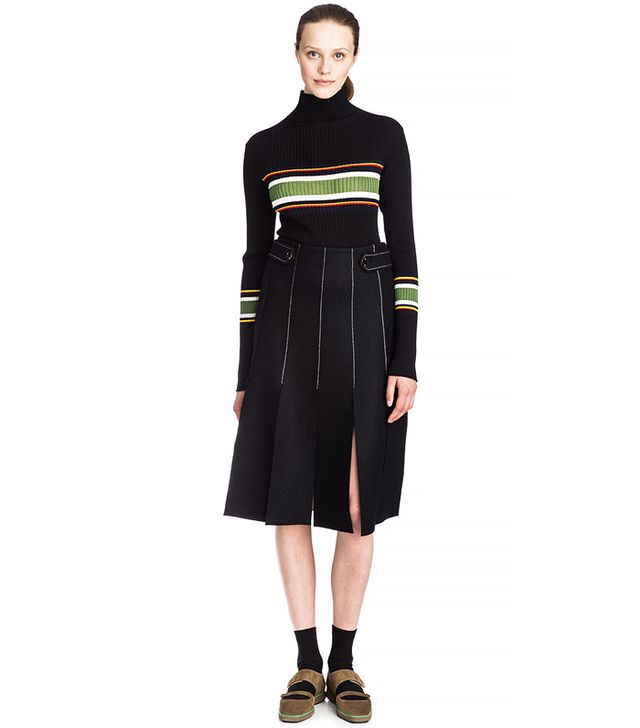 Suno Double-Faced Paneled Skirt