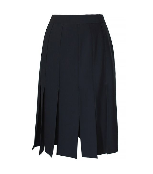Tibi Cuarteto Carwash Midi Skirt