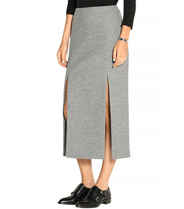 Wes Gordon Split Midi Skirt