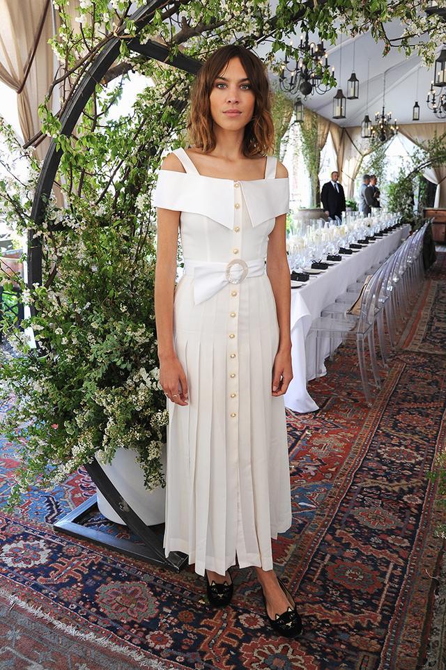 On Chung: Alessandra Rich dress.