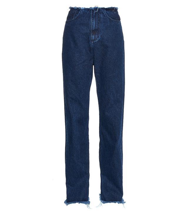 Marques'Almeida Boyfriend Frayed-Edge Jeans