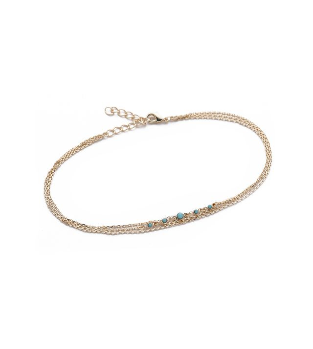 Jules Smith Multi Chain & Stone Anklet