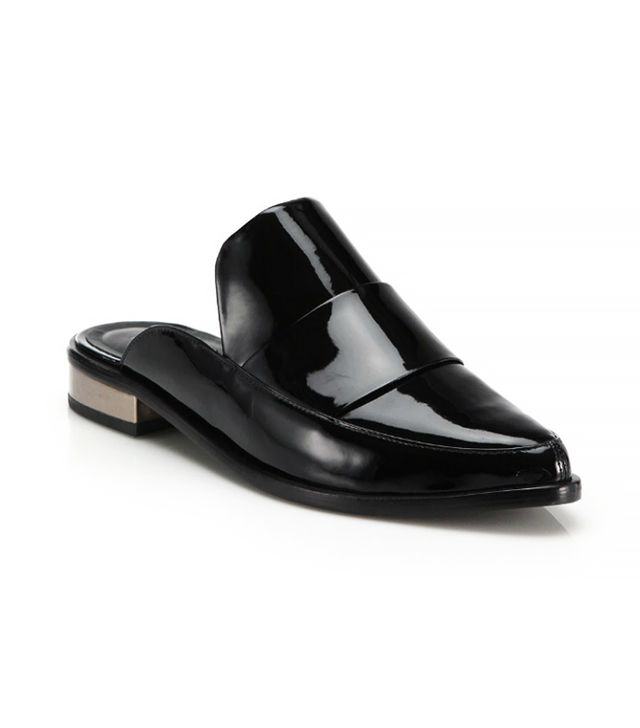 Tibi Denni Patent Leather Oxford Mules