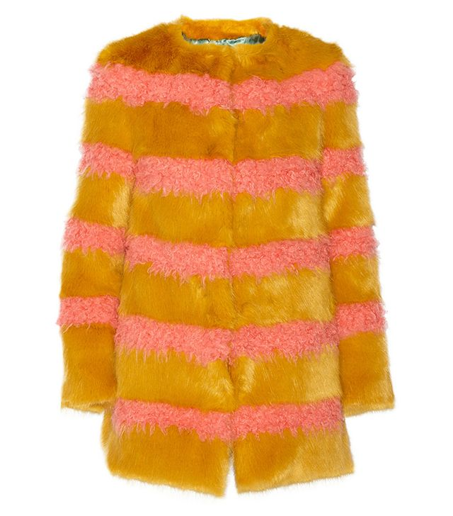 Shrimps Bobbin Striped Faux Fur Coat