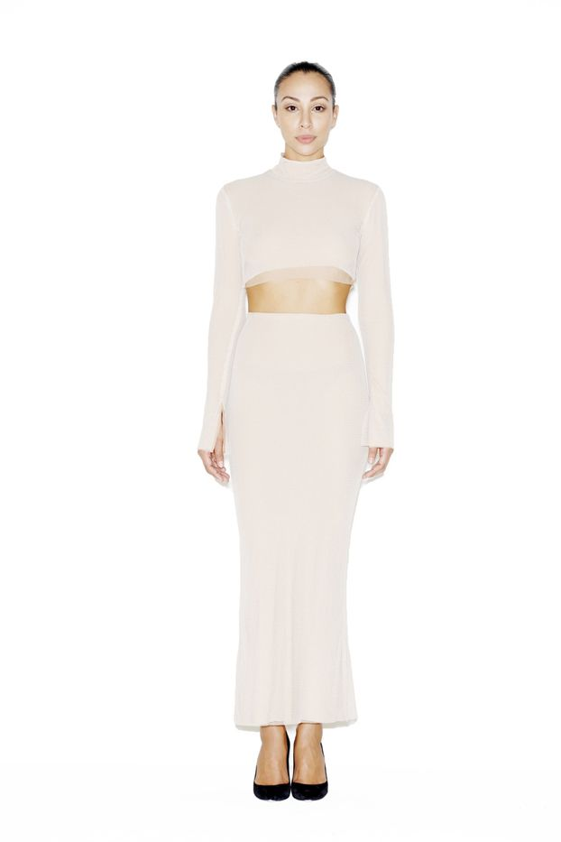 LaQuan Smith Layla Crop Top and Skirt