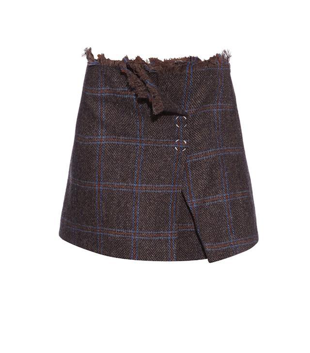 Acne Studios Paynton Herringbone Mini Skirt