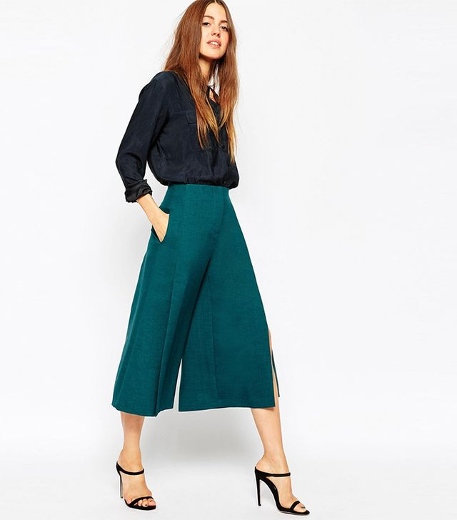 ASOS Premium Structured Culotte With Split Detail