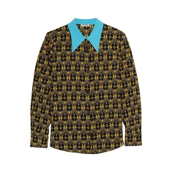 Miu Miu Printed Crepe Shirt