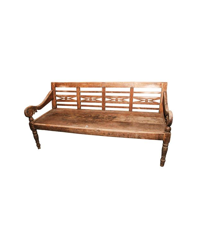 1stdibs Vintage Teak Wood Bench