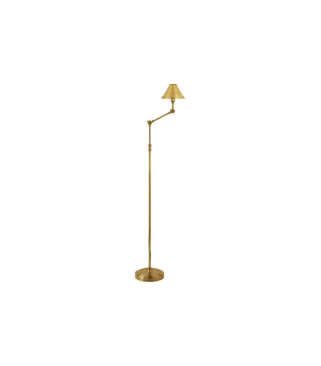 Ralph Lauren Home Anette Floor Lamp In Natural Brass