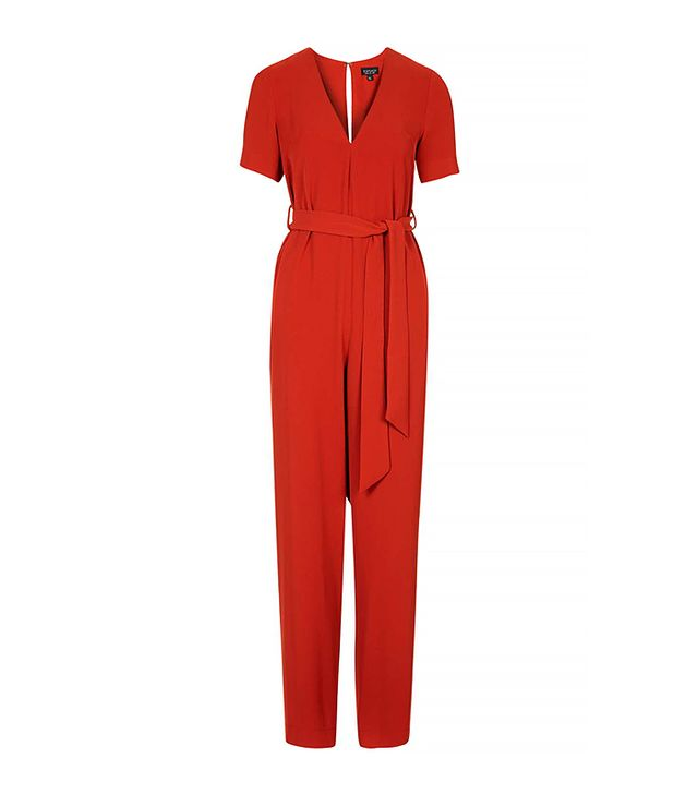 Topshop Belted Tailored Jumpsuit
