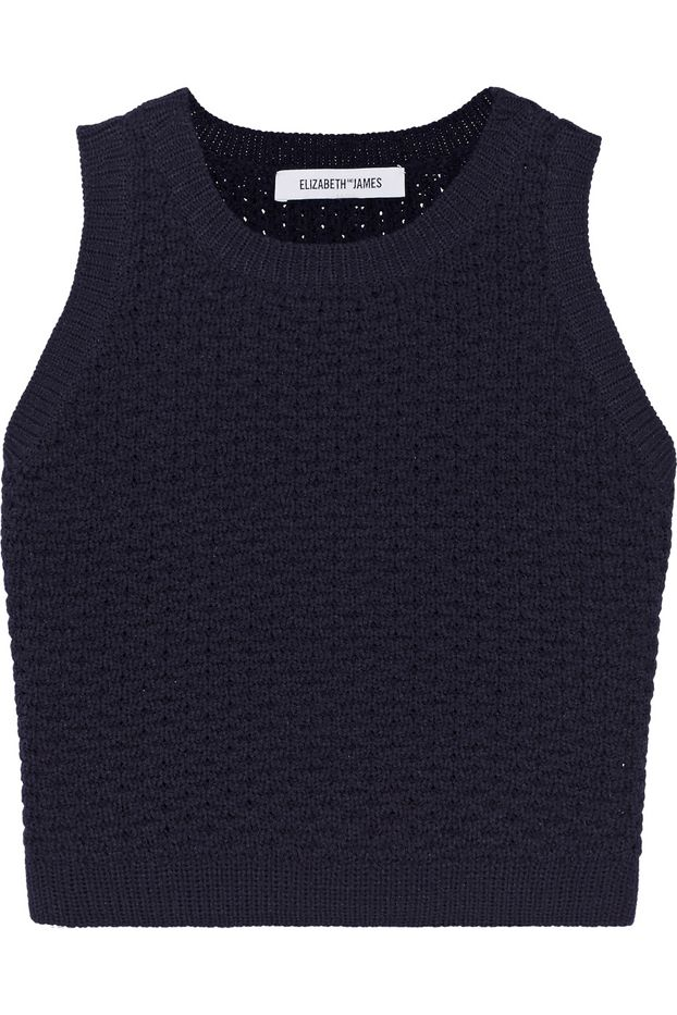 Elizabeth and James Cropped Knitted Sweater