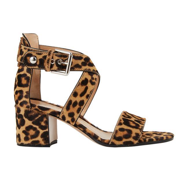 Gianvito Rossi Leopard Crisscross Sandals