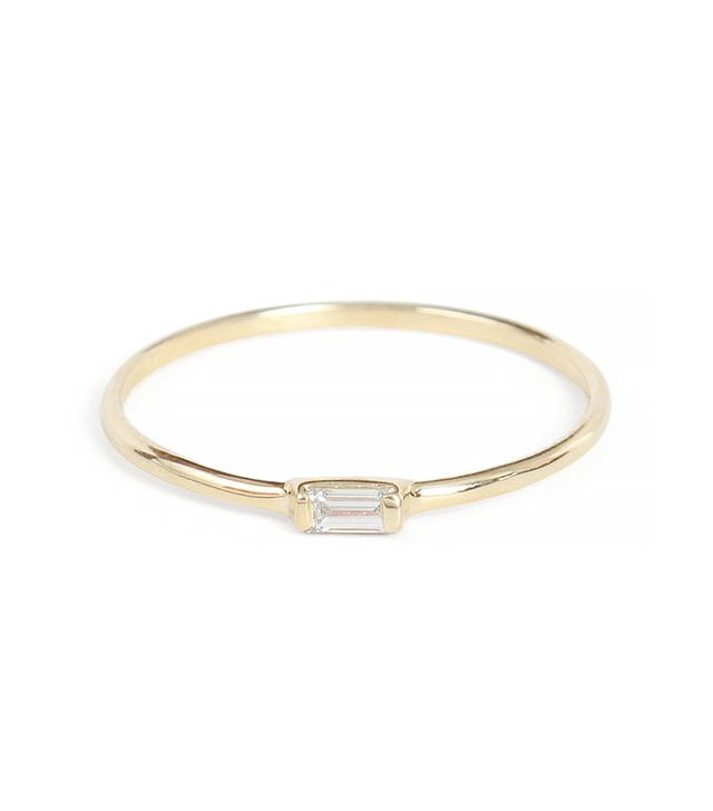 Catbird Diamond Baguette Ring