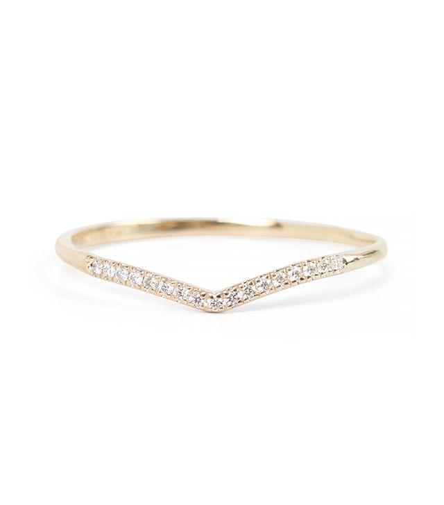 Catbird Curved Demi-Pave Fairy Light Ring