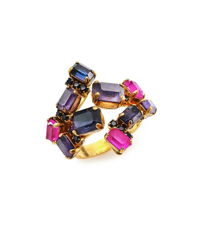 Erickson Beamon Velvet Underground Crystal Cluster Ring