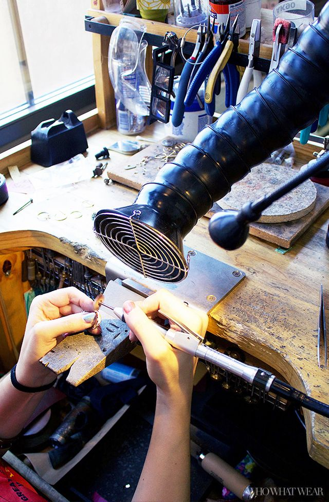 "Once the sanding is complete, they'll further polish the ring using several levels of abrasive radial bristle discs. ""The bristles are abrasive at the ends, and are great for the..."