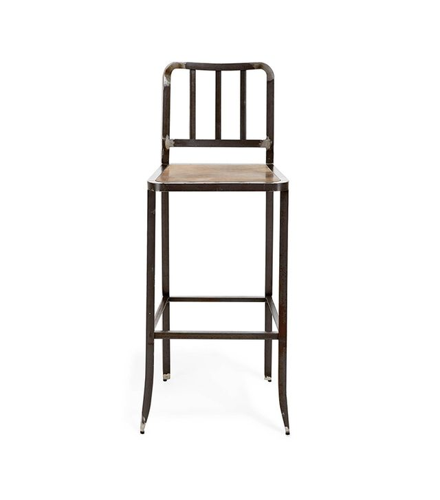 Real Material Leather and Metal Counter Stool