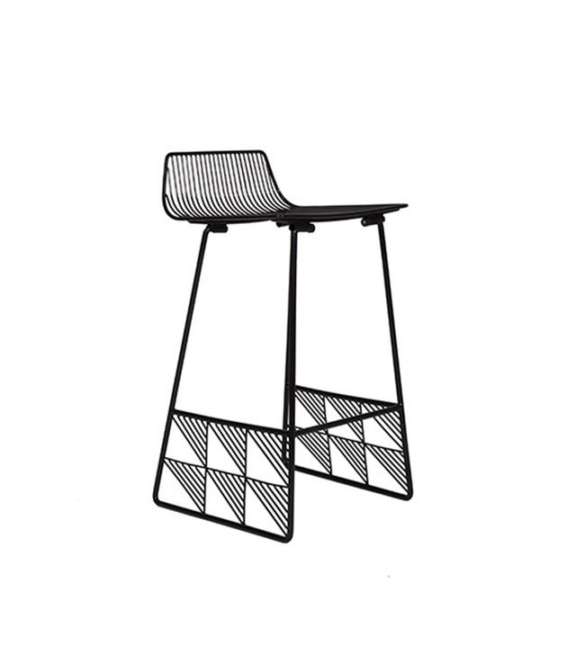 Bend Low Back Counter Stool