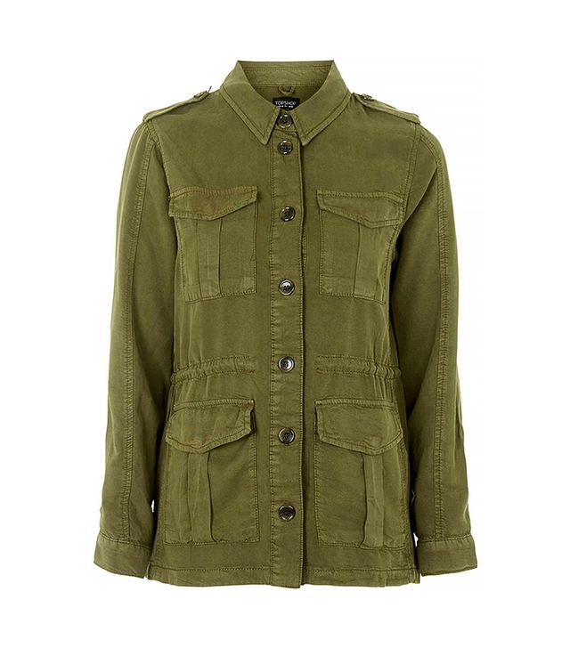 Topshop Multi-Pocket Tencel Jacket