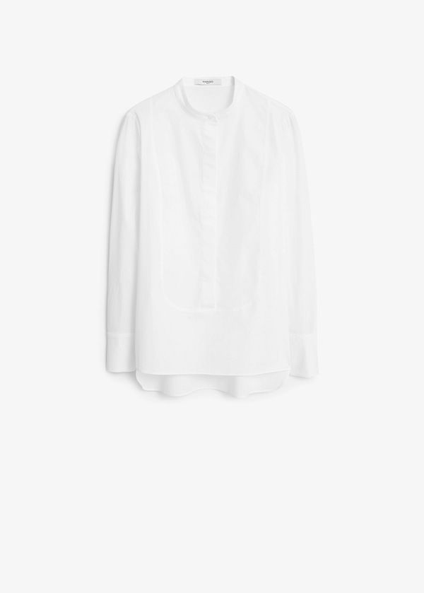 Mango Panel Cotton Shirt