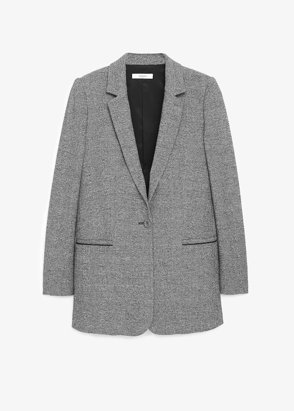 Mango Check Suit Blazer