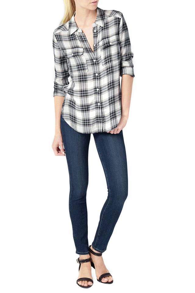 Paige Trudy Shirt in Black and True Blush