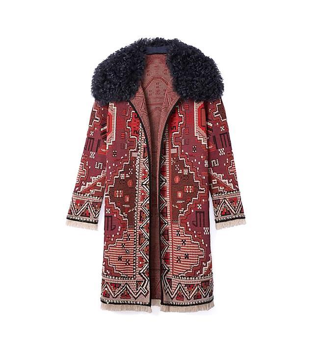 Tory Burch Embellished Long-Sleeve Coat