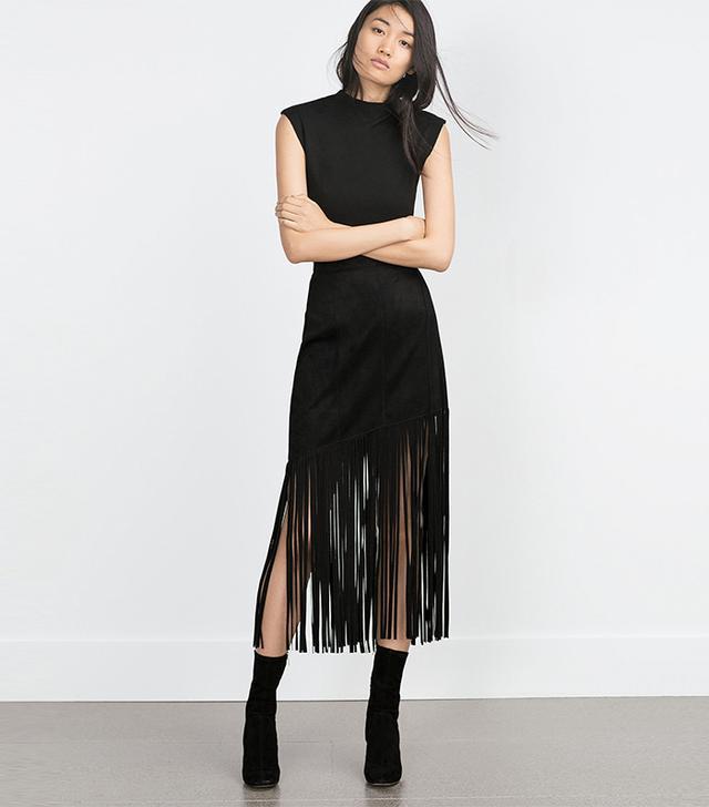 Zara Fringed Skirt