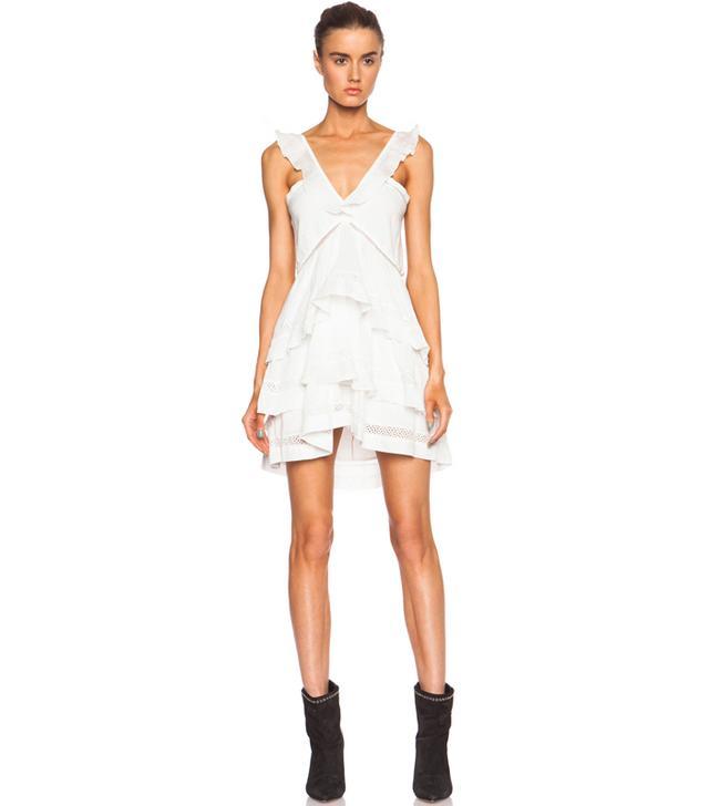Isabel Marant Etoile Casey Cotton-Blend Voile Vintage Dress