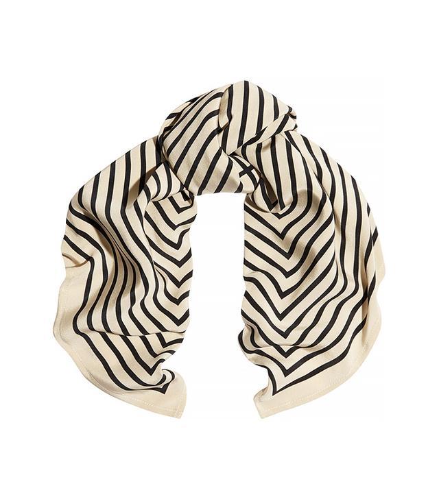 Totême Striped Silk Scarf