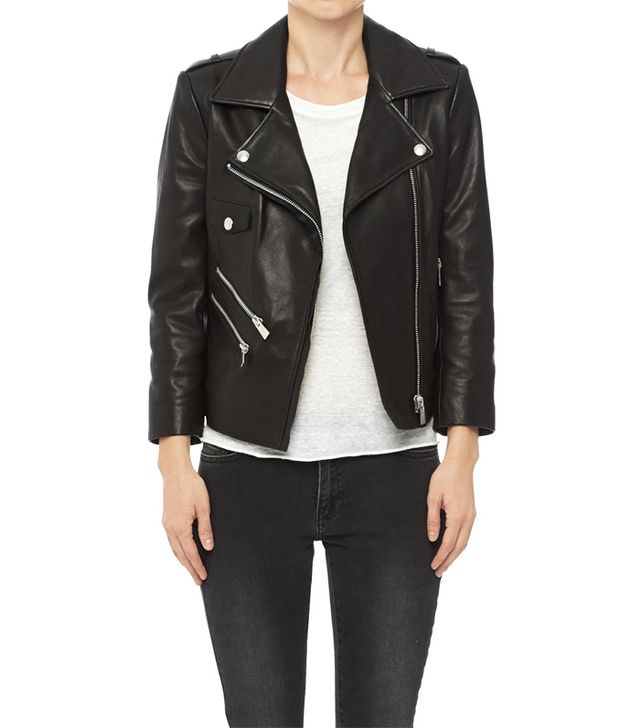 Anine Bing Cropped Leather Jacket
