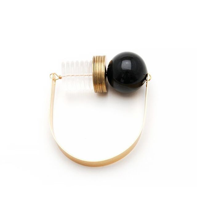 Maslo Jewellery Black Circle Bracelet