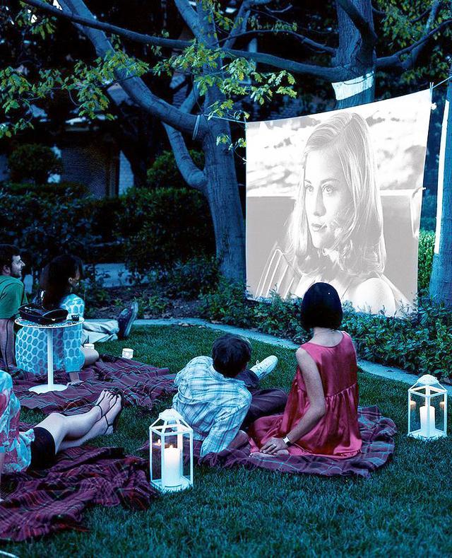 Watch a movie under the stars.