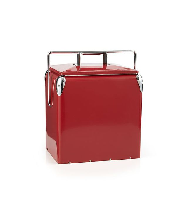 Crate & Barrel Red Picnic Cooler