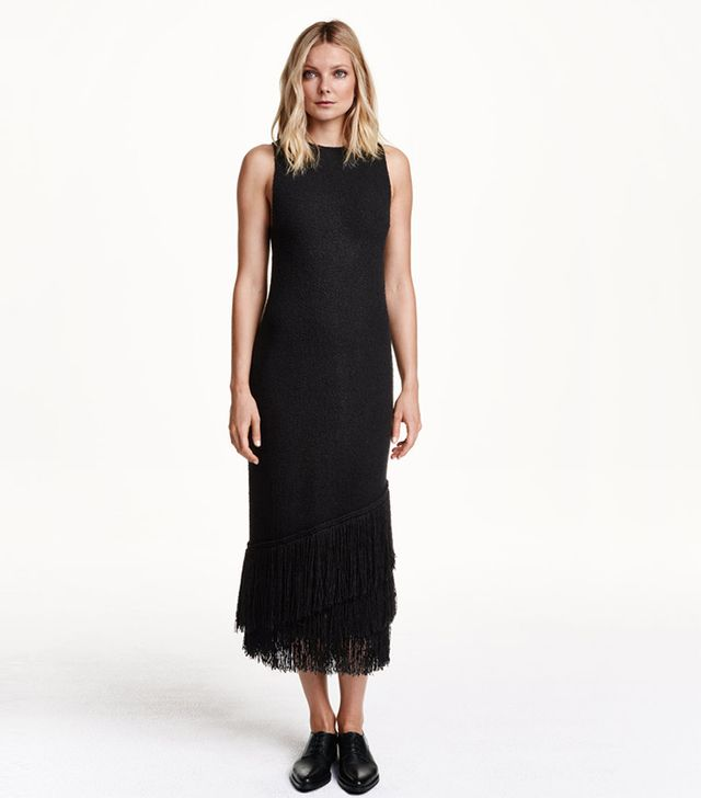 H&M Dress With Fringe Trim